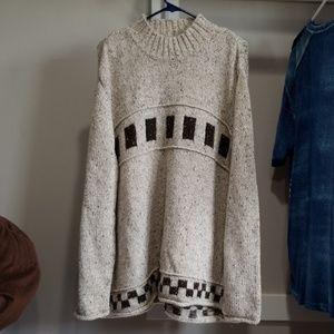 Tan and brown sweater
